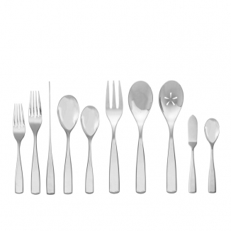 Anna 45 Pc Set - (8-5pc. Place Settings,3pc. Serving Set, Butter Knife, & Sugar Spoon)