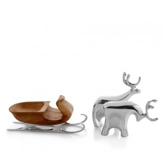 Figurine-Sleigh With Reindeer