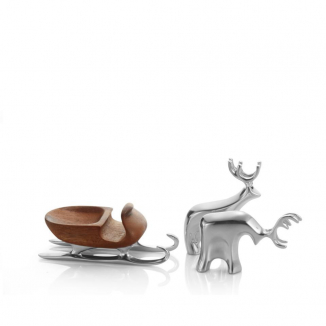 Mini Sleigh w/ Reindeer Set