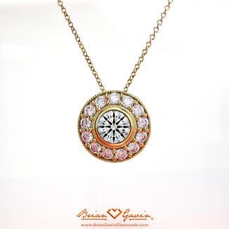 Halo bezel pendant custom diamond pendant necklace designs aloadofball Images