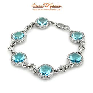 Blue Topaz Bracelet Silver