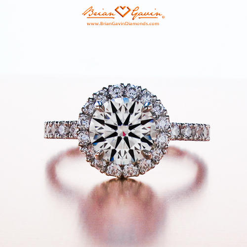 The Sarah Halo Engagement Ring