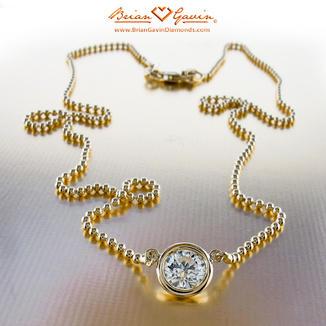 Bezel pendant with bead chain custom diamond pendant necklace bezel pendant with bead chain custom diamond pendant necklace designs aloadofball Image collections