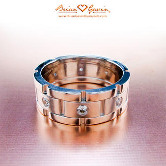 Chain Link and Diamonds Designer Wedding Band Sets