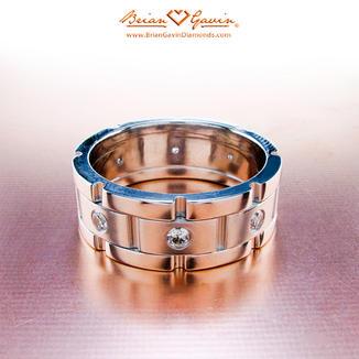Chain Link and Diamonds Designer Wedding Band Sets