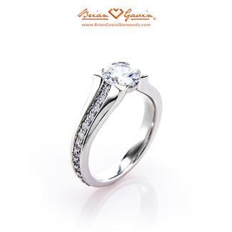 Iris Bezel Pave Engagement Ring
