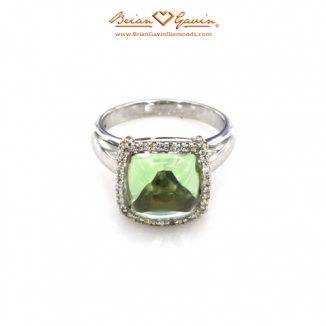 Square Cab Green Quartz Silver