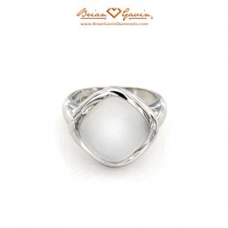 Square Matte White Quartz Silver