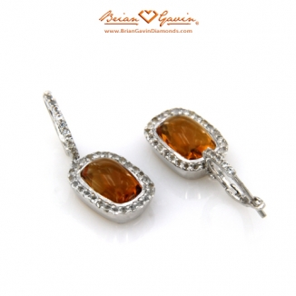 Cushion Cab Citrine Silver