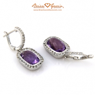 Cushion Cab Amethyst Silver