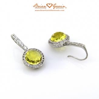 Round Pineapple Cut Lemon Quartz Silver