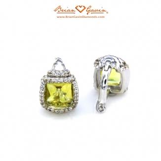 Square Cab Lemon Quartz Silver