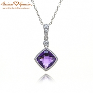 Cushion Checkered Amethyst