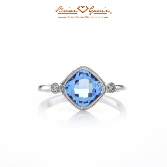 Cushion Checkered Blue Topaz