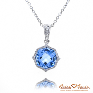 Cushion Blue Topaz