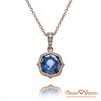 Cushion London Blue Topaz Pendant