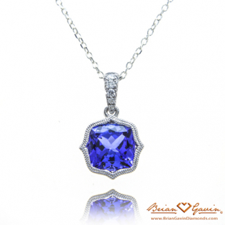 Cushion Tanzanite Pendant