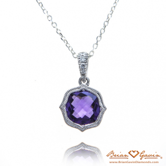 Cushion Amethyst Pendant